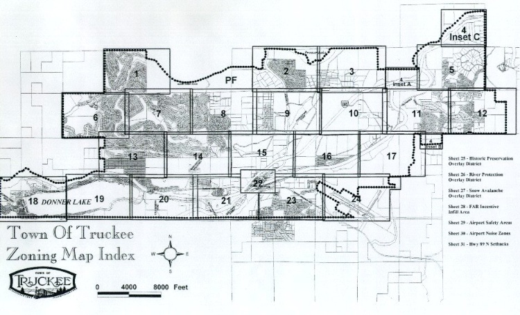 Zoning Map Index Town Of Truckee - Where is the sheet number on a map found