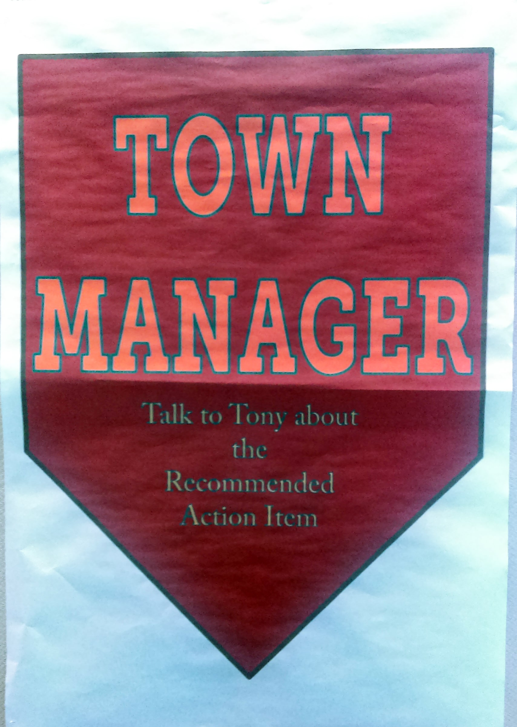 Town Manager Poster