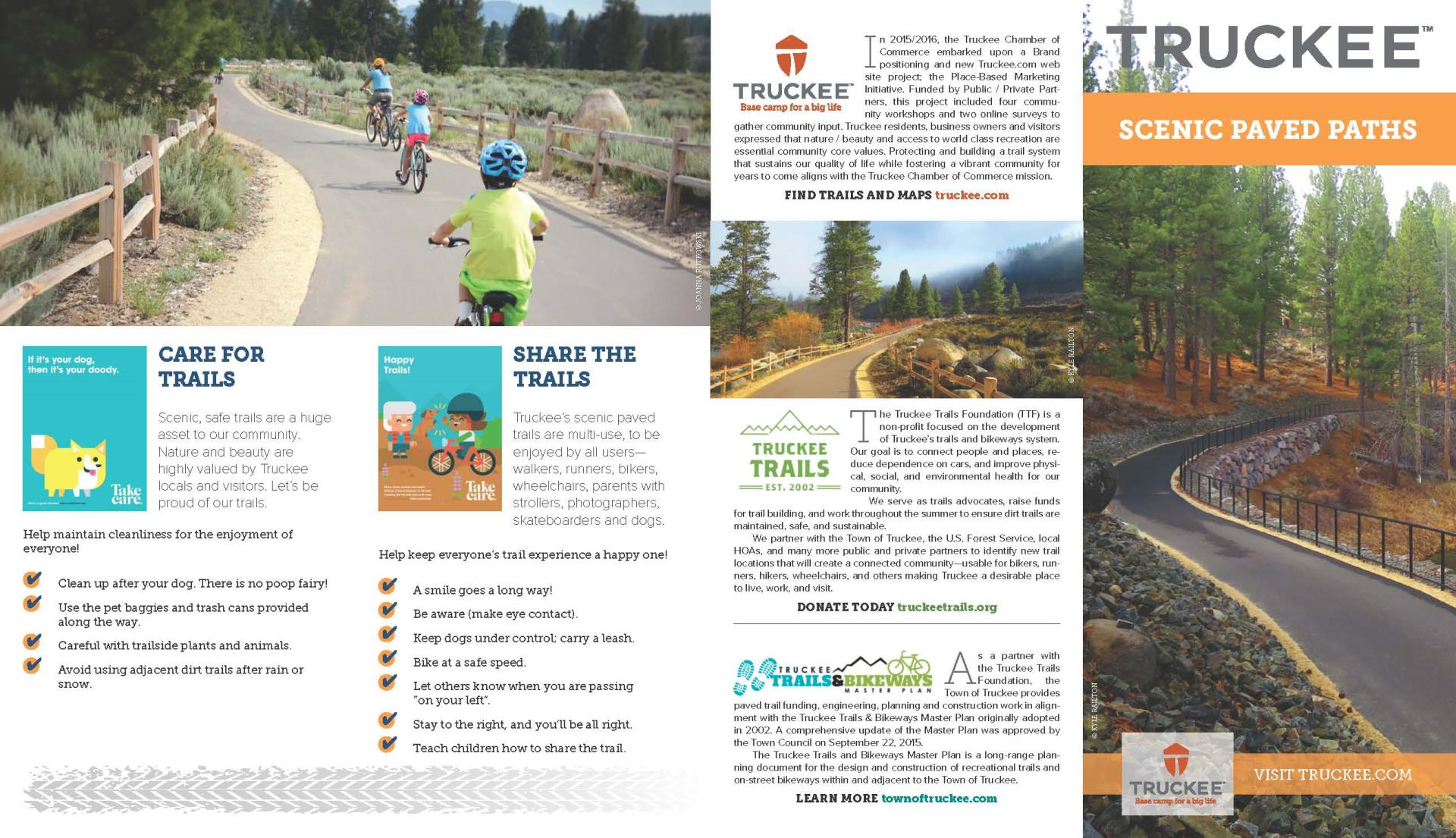 Truckee Trails Map Front Page