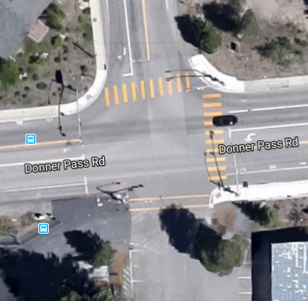 Aerial image of Northwoods Blvd. & Donner Pass Road Intersection
