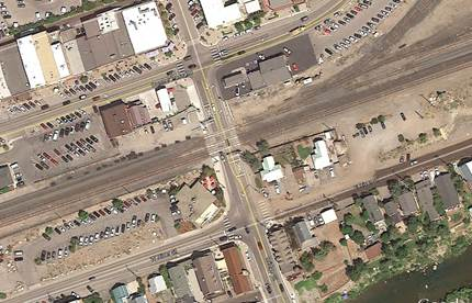 Bridge Street,West River Street and Donner Pass Road Intersection Improvements aerial image