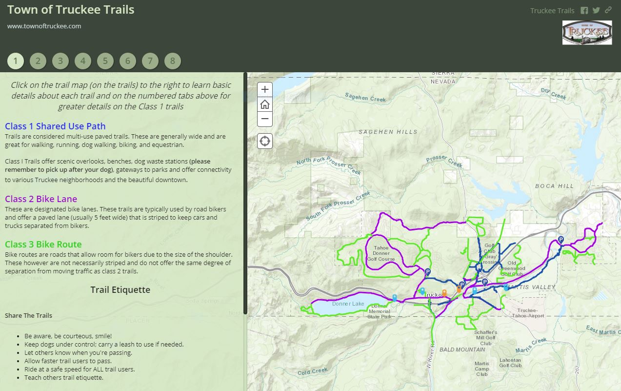Interactive Trail Map