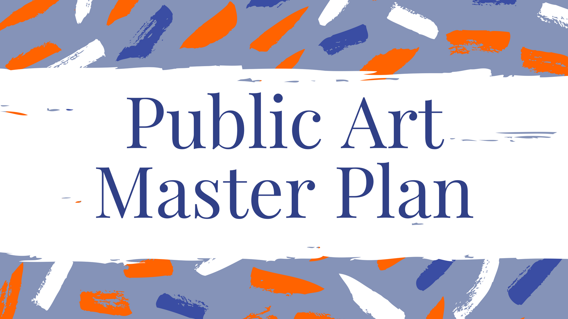 Public Art Master Plan EVENT COVER