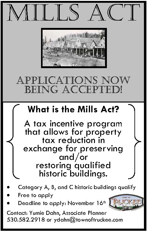 2018 Mills Act Ad
