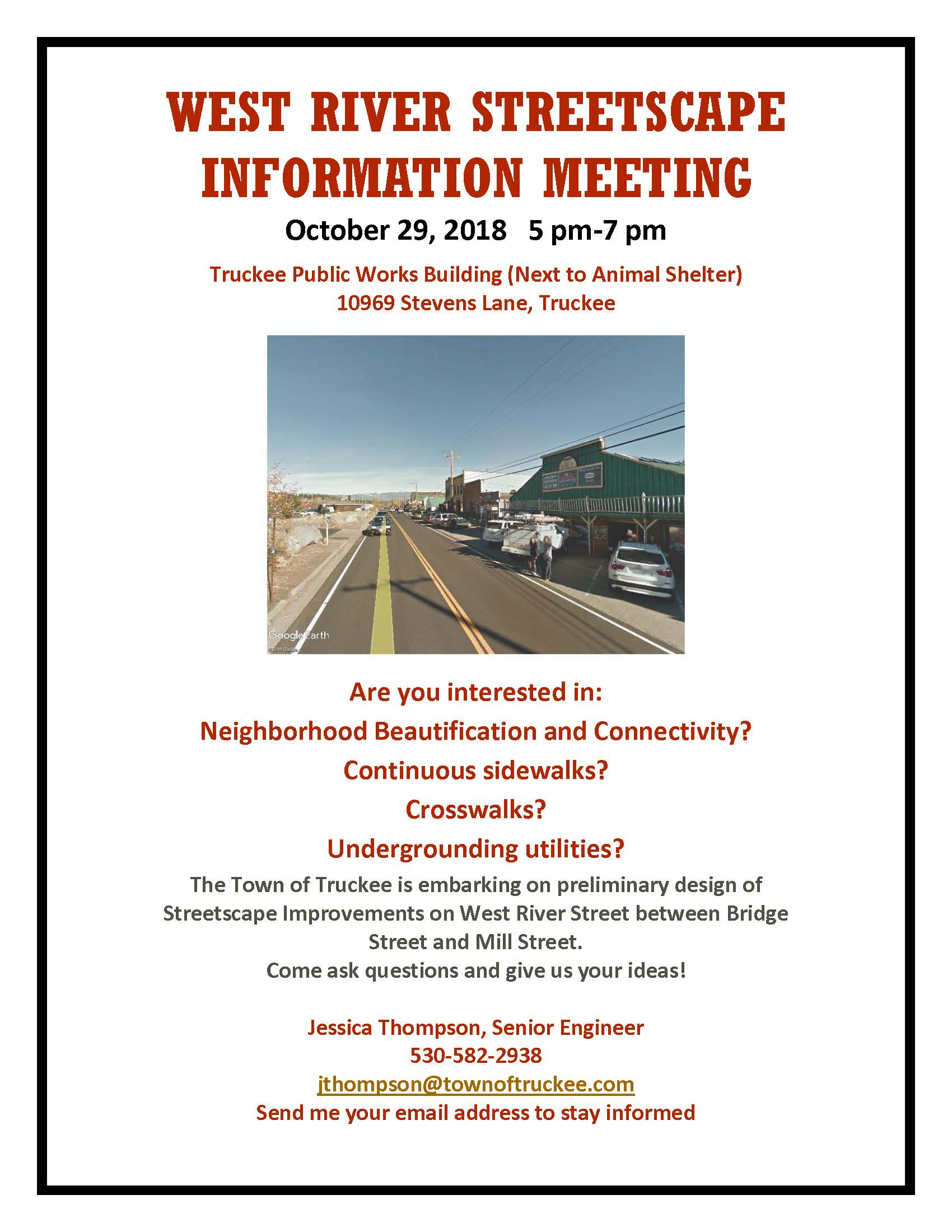 West River Streetscape Information Meeting tonight! | News