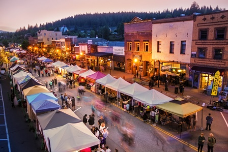 Downtown Truckee during a Truckee Thursday event
