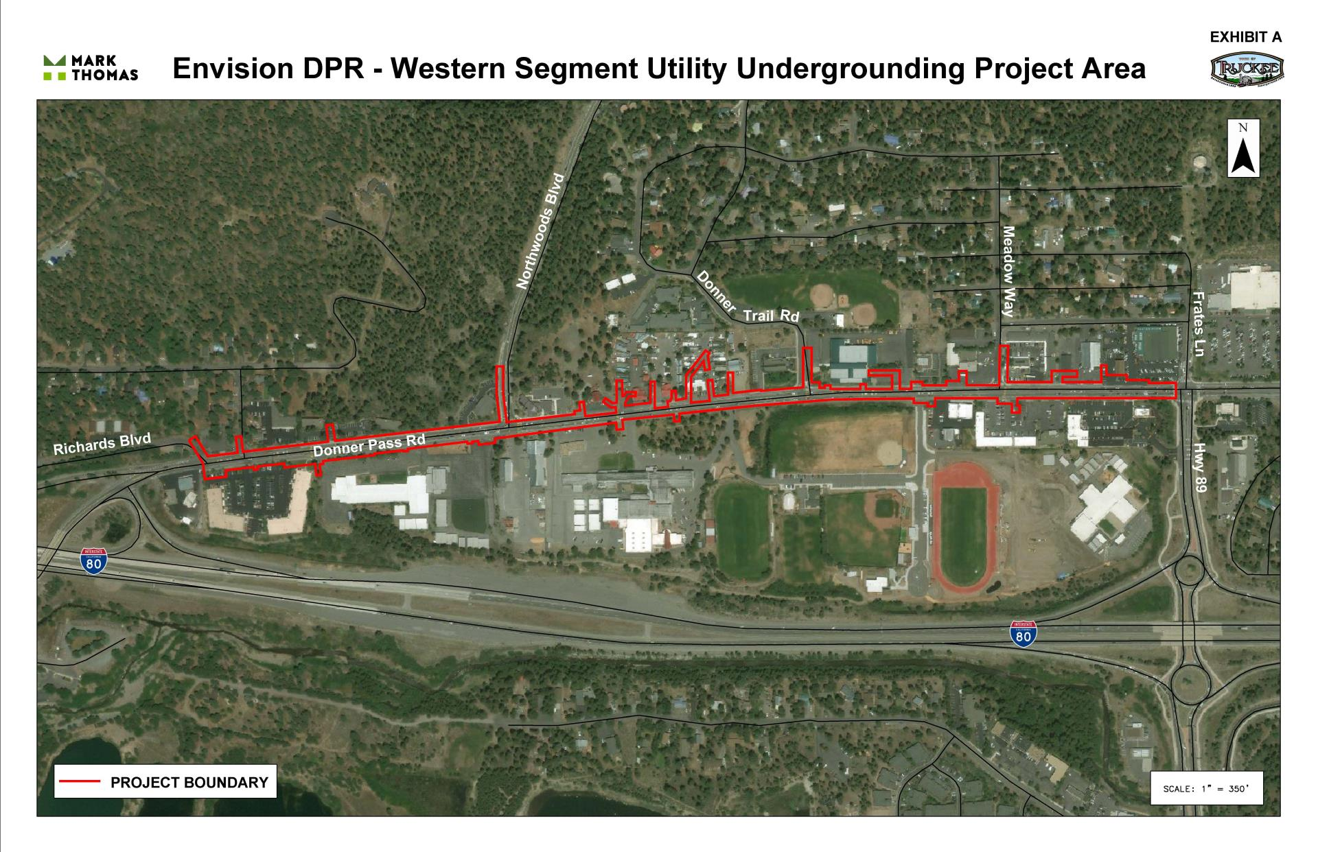 Envision DPR - Western Segment Utility Undergrounding Project Area image