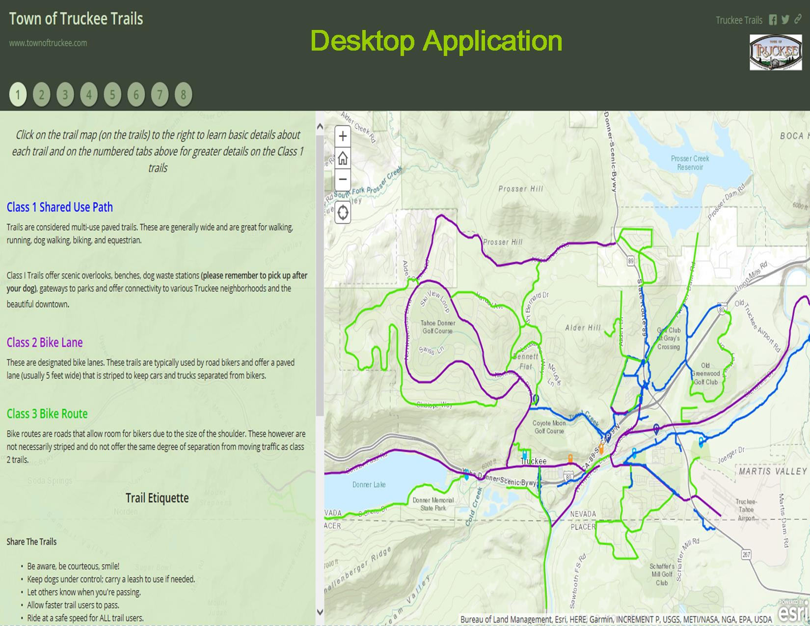 Trail Map - Desktop