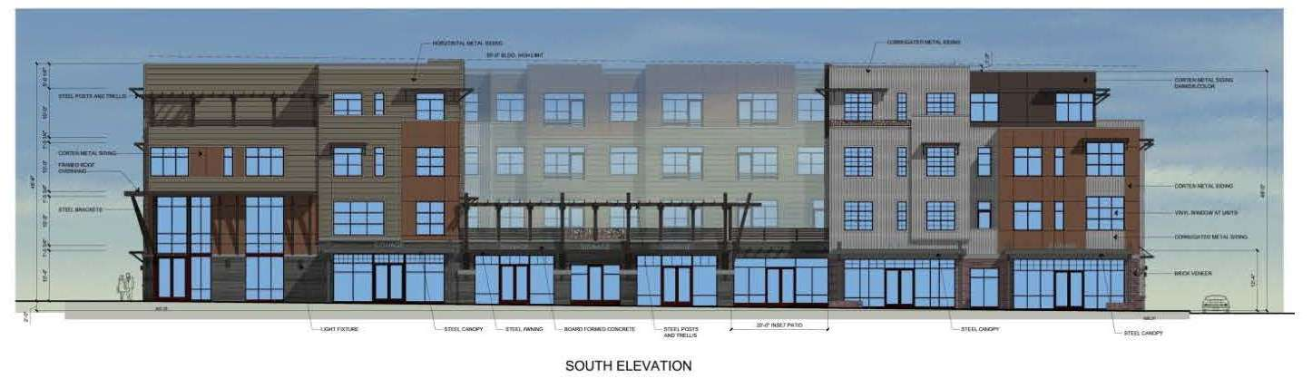 Artist Lofts South Elevation Approved