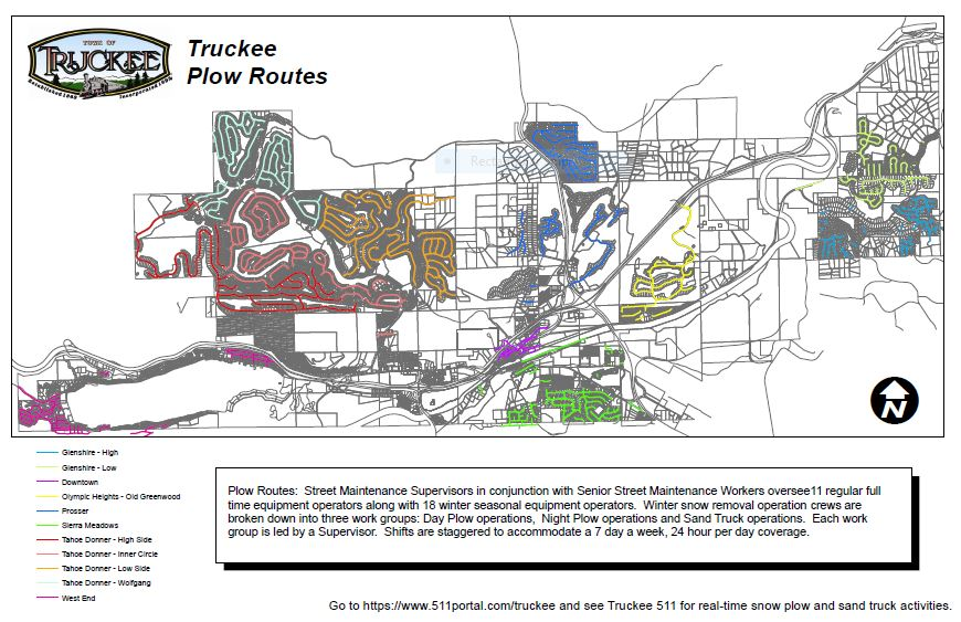 Town of Truckee Plow Routes