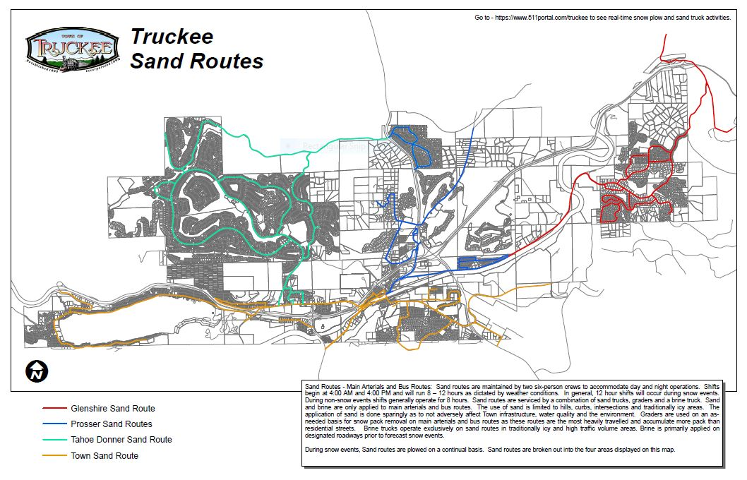 Town of Truckee Sand Truck Routes