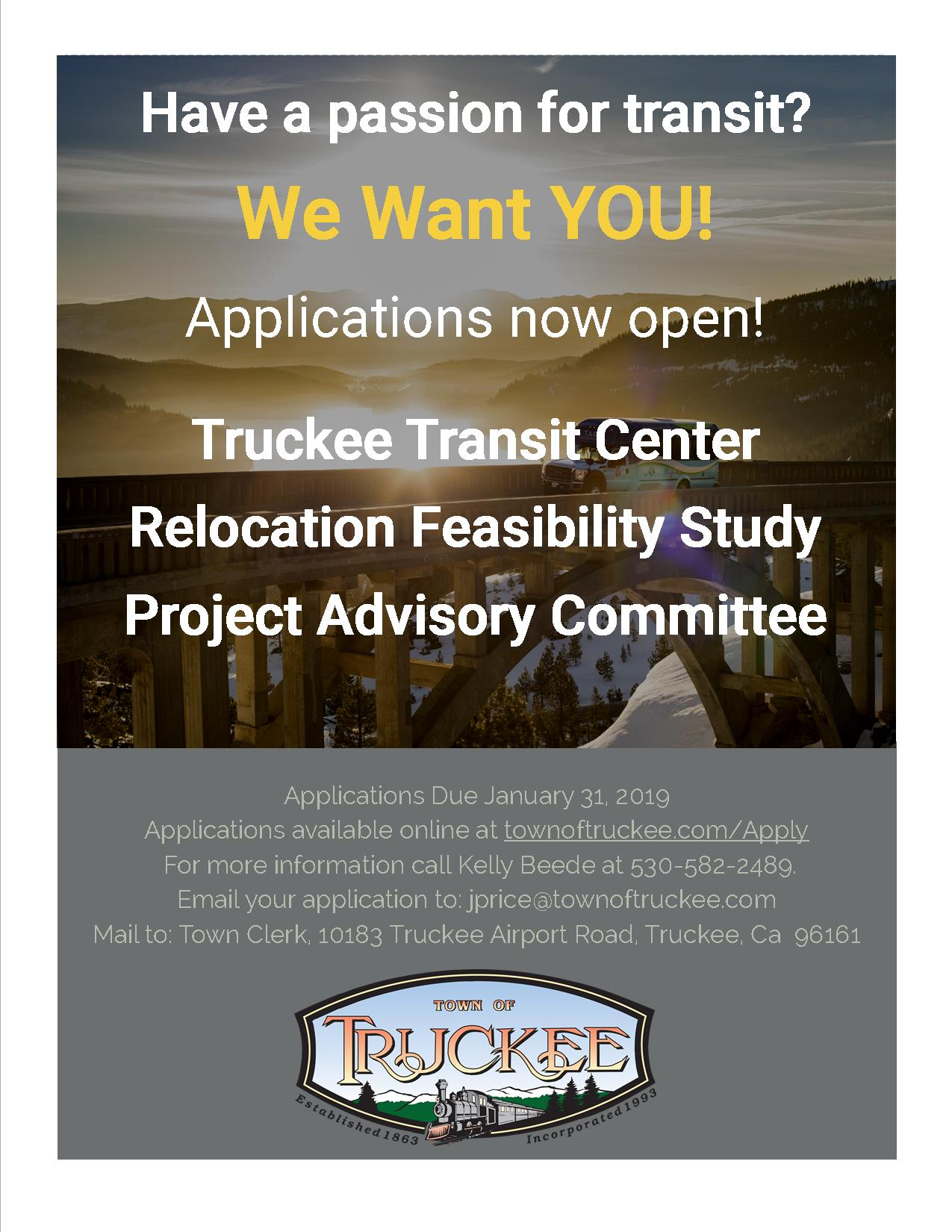 Applications Open for Transit Center Relocation Feasibility Study Project Advisory Committee.