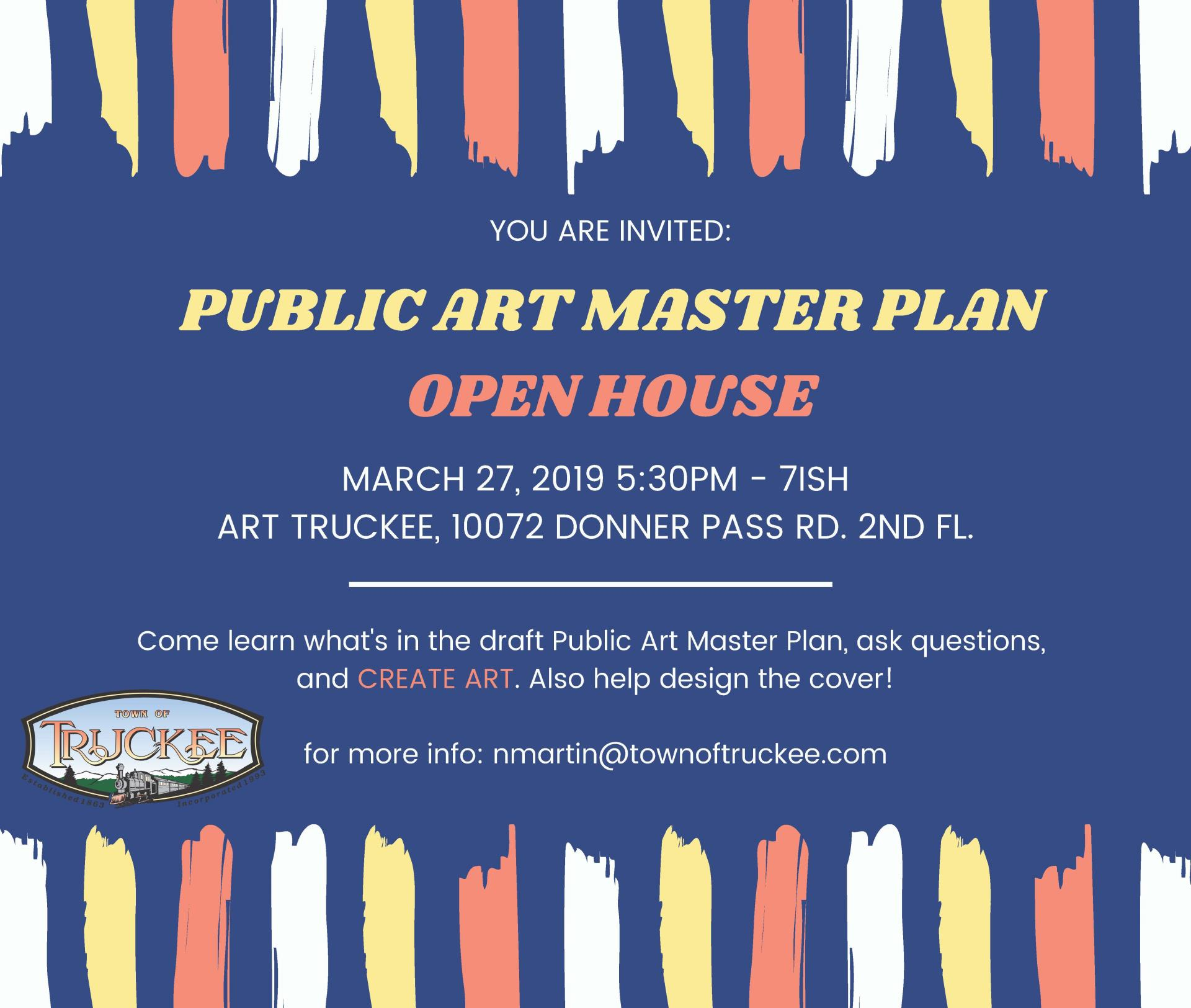 Public Art Master Plan Open House