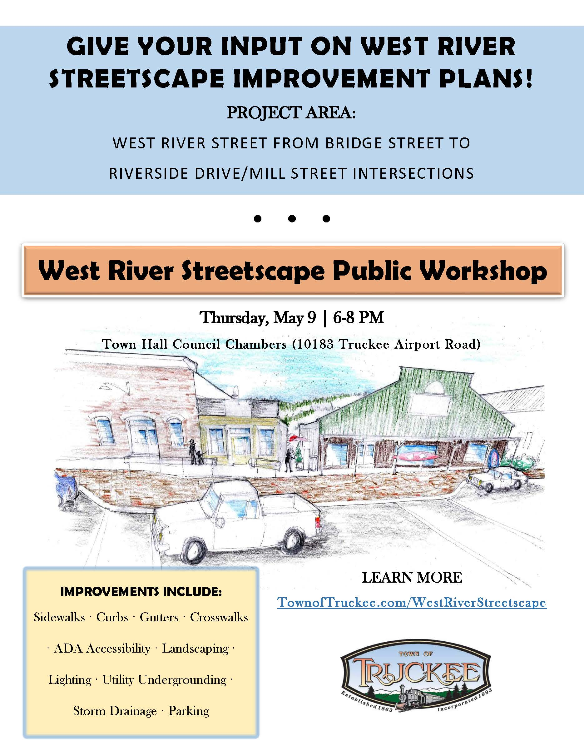 Flyer West River Streetscape Public Workshop