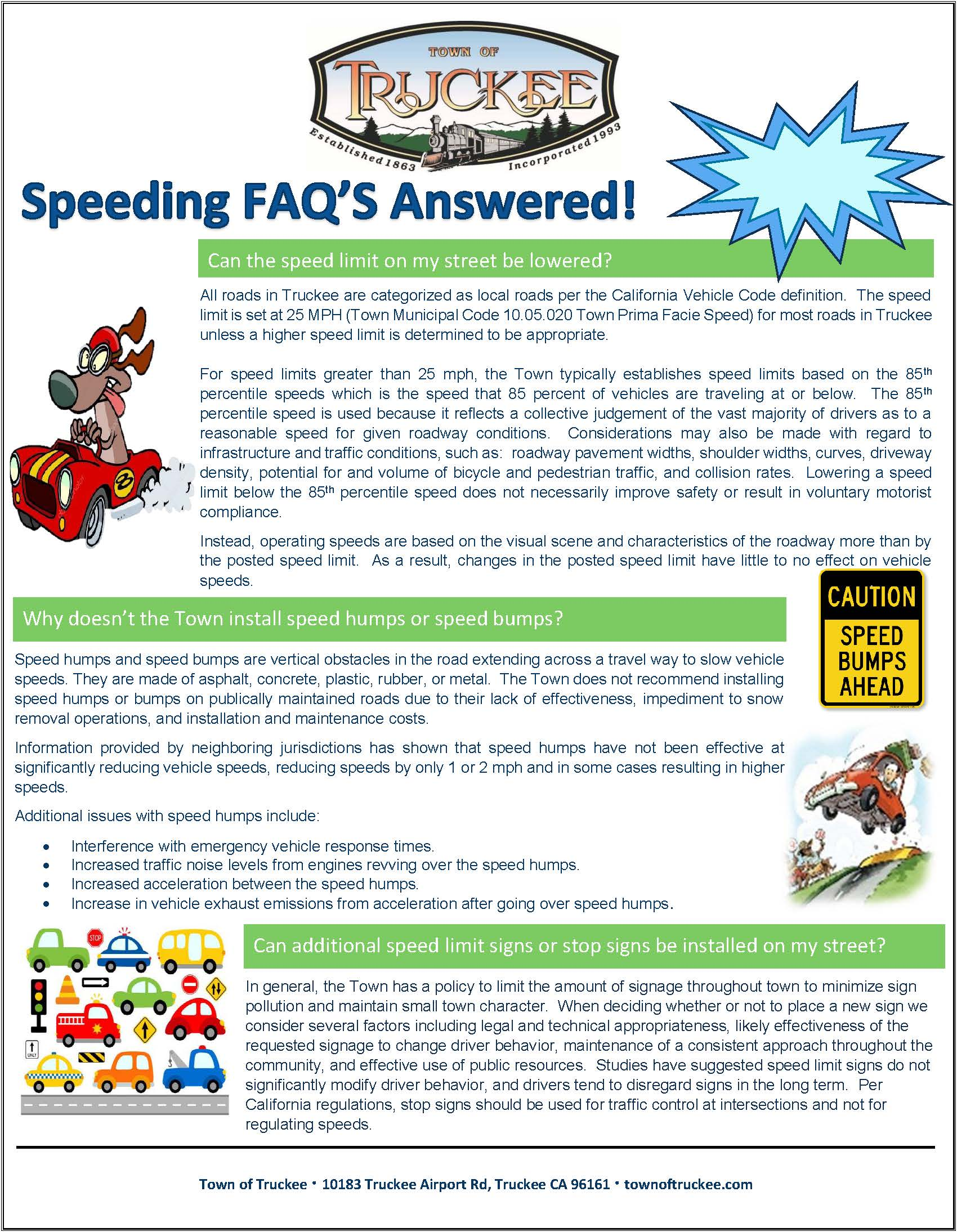 Speeding FAQ's Answered - Flyer