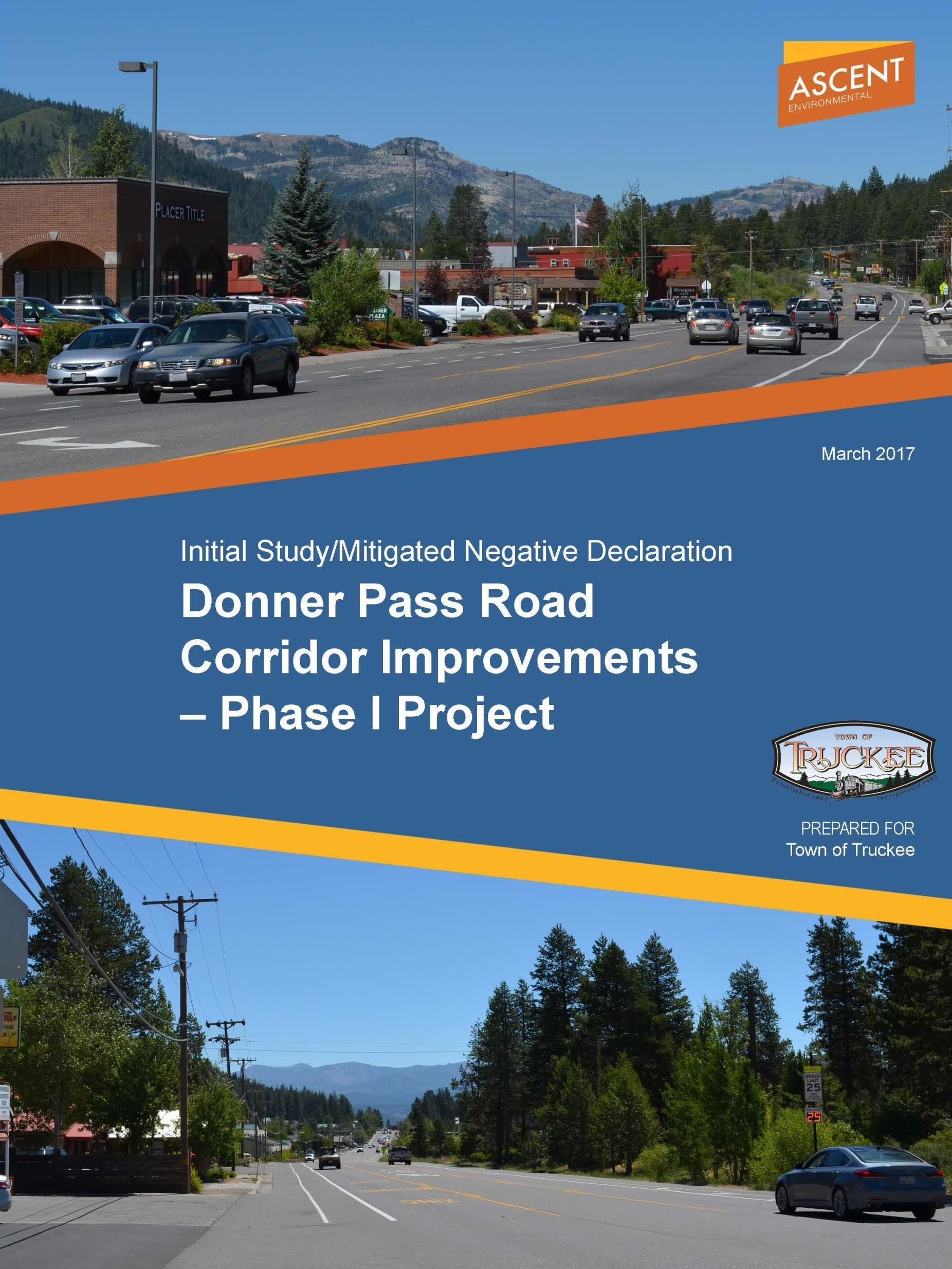 Envision Donner Pass Road Mitigated Negative Delcaration