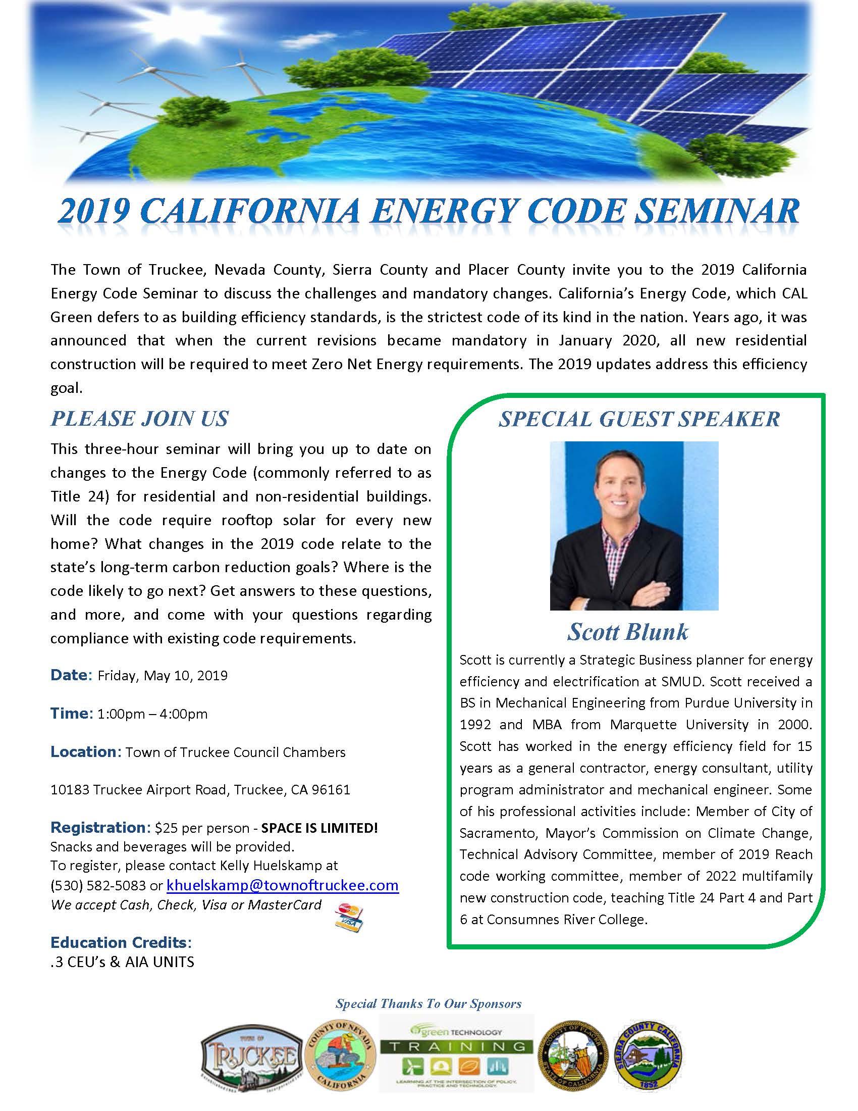 2019 Green Energy Code Seminar !
