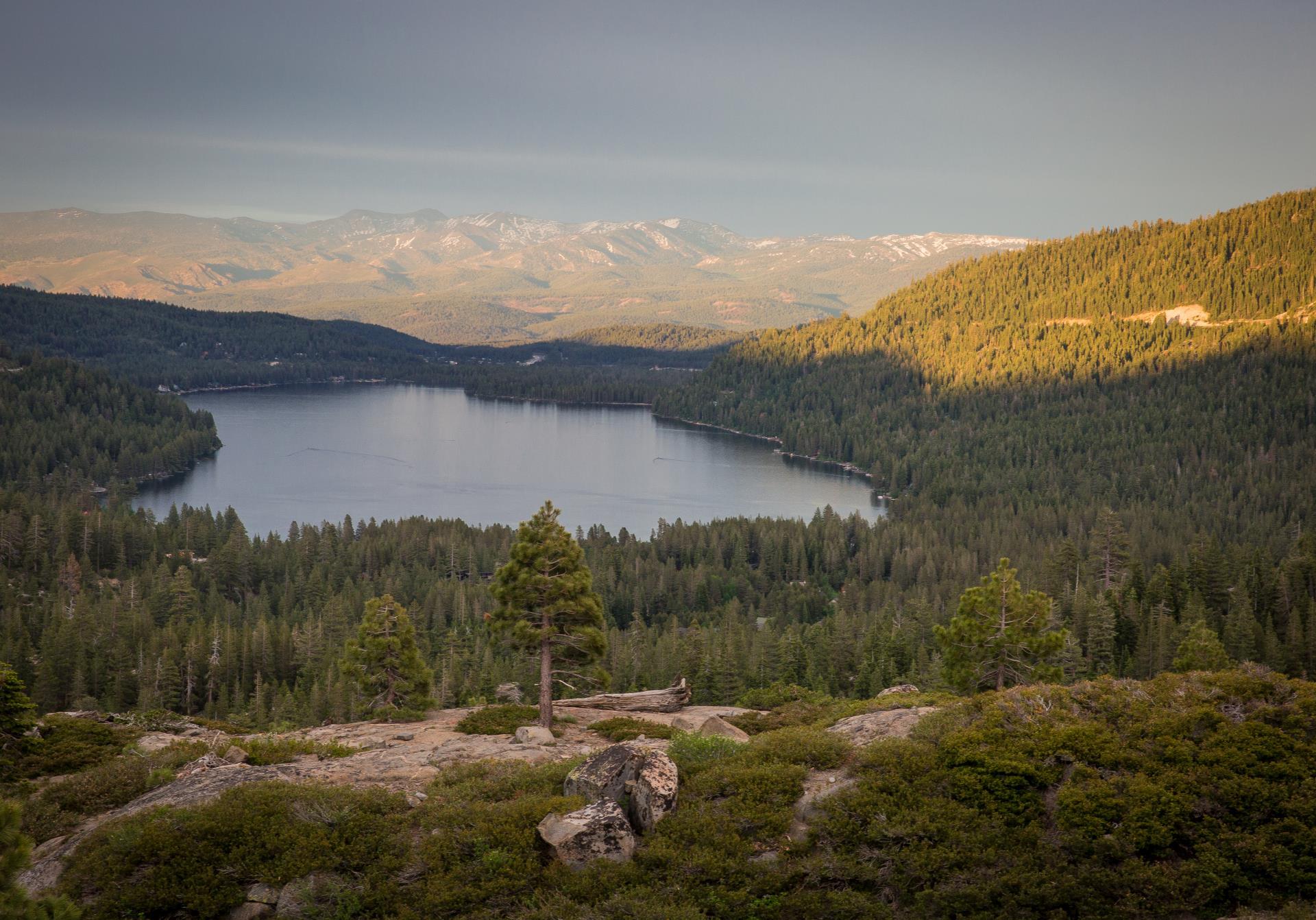 Summit Looking at Donner Lake